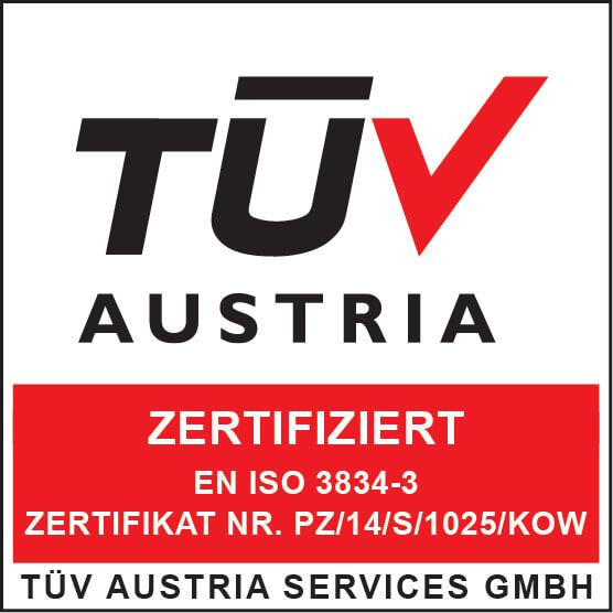 TUV Austria EN ISO 3834-3